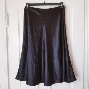 Brooks Brothers A-Line Silk Black Skirt Career
